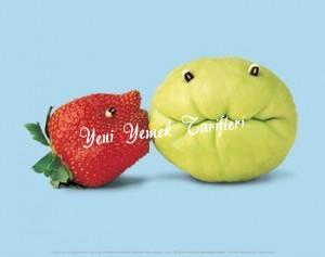 Komik Meyve ve Sebze Resimleri