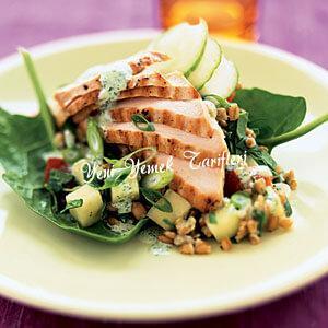 Izgara Tavuk ve Buğday Salatası