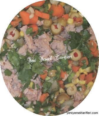 Ton Balıklı Vitamin Salatası