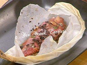 Pakette Fırında Barbunya Balığı